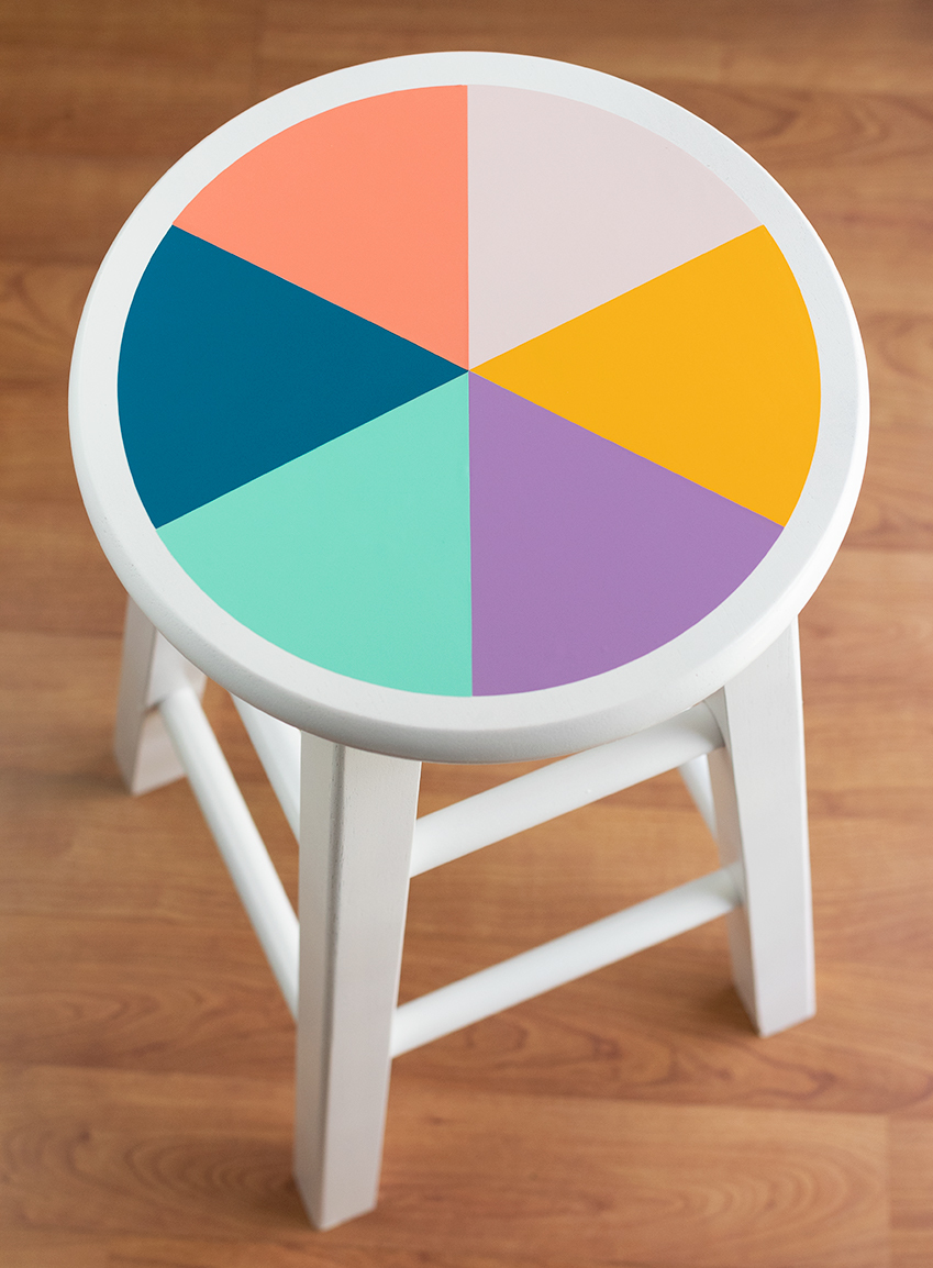 Color Wheel Stool