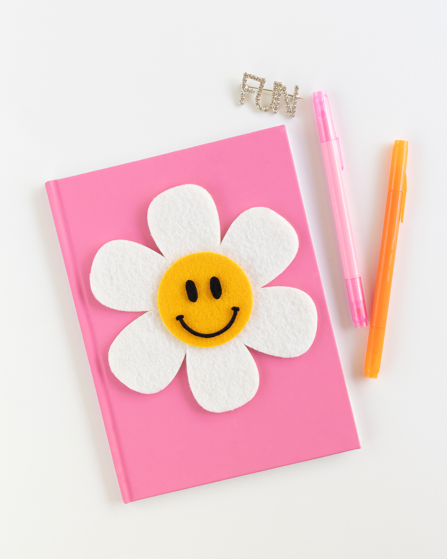 DIY Flower Notebook