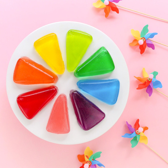 DIY Color Wheel Jell-O