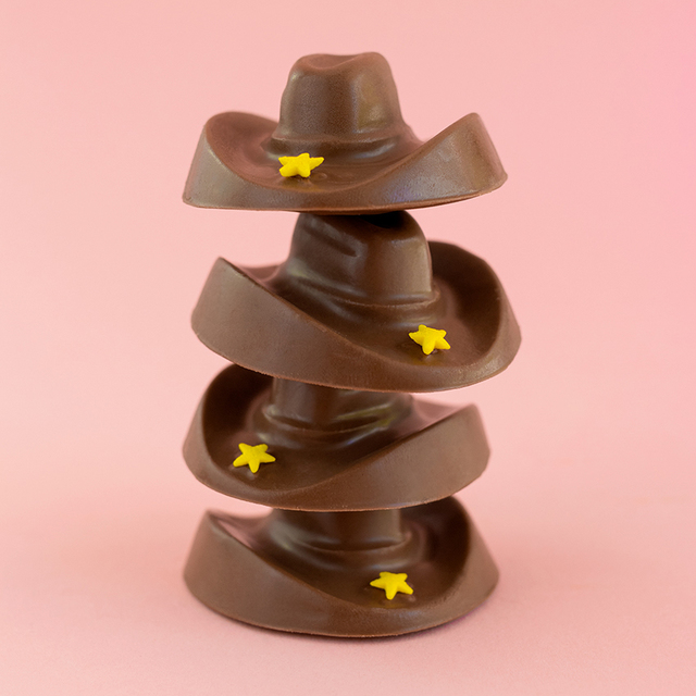 Peanut Butter Chocolate Cowboy Hats