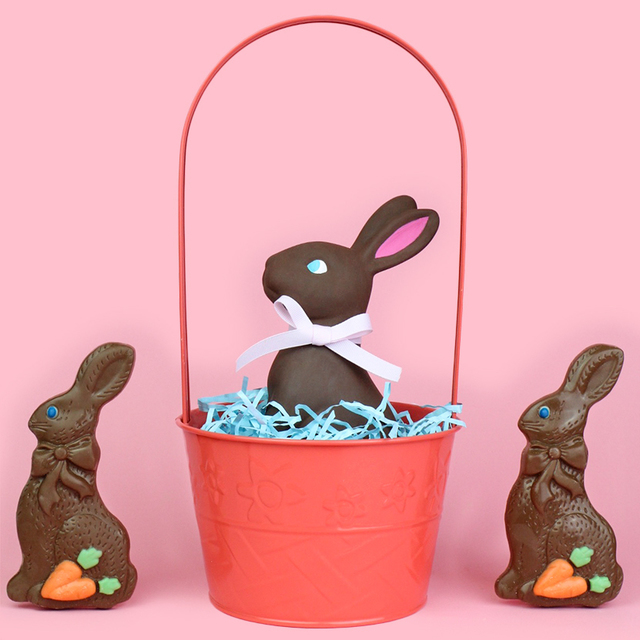 DIY Chocolate Bunny Easter Décor