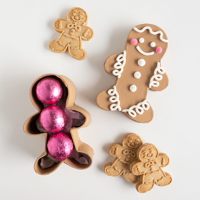 DIY Gingerbread Man Gift Box