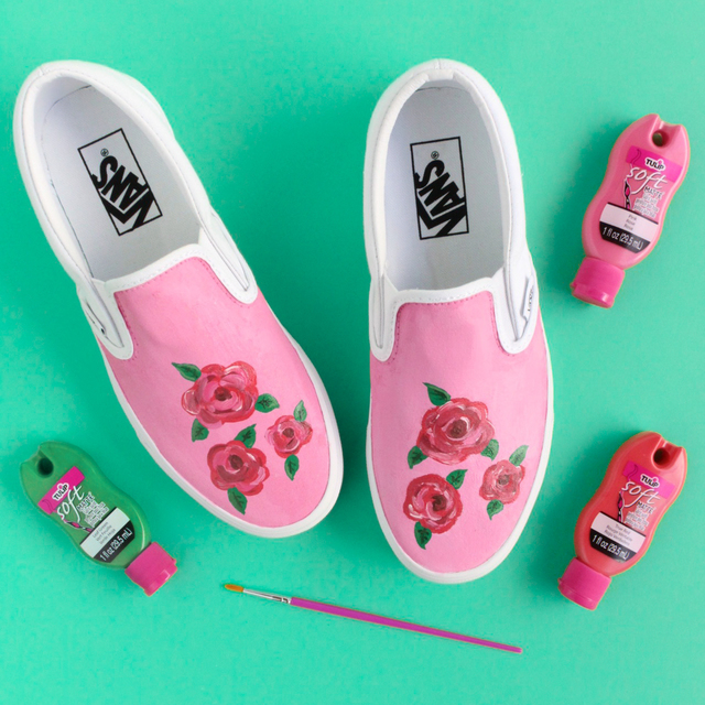 DIY Rose Shoes